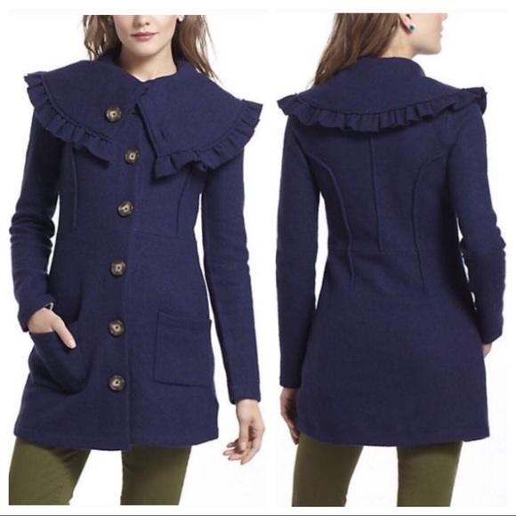Anthropologie Jackets & Blazers - Anthropologie HWR Monogram Herlev Sweatercoat
